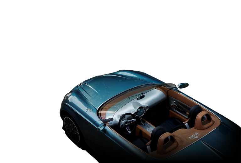 MINI Superleggera Vision top-diagonal profile